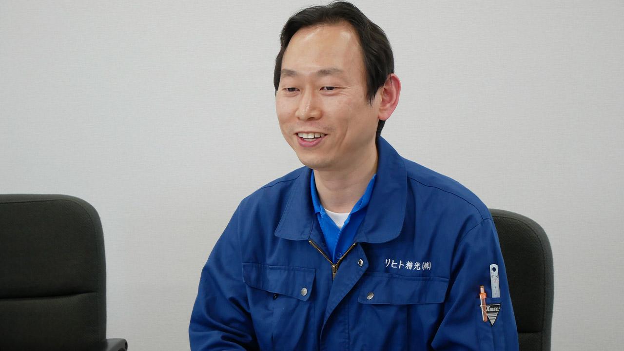 リヒト精光株式会社 生産技術部 部長代理 森 様